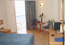 Kissos Hotel Paphos Cyprus - Standard Twin Hotel Rooms for 3 Guests
